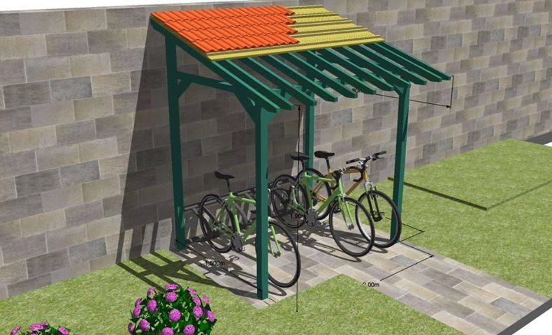 Bike shed SketchUp model